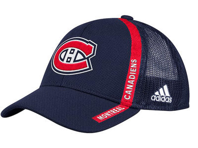 Montreal Canadiens Adidas Blue Mesh Adjustable Hat