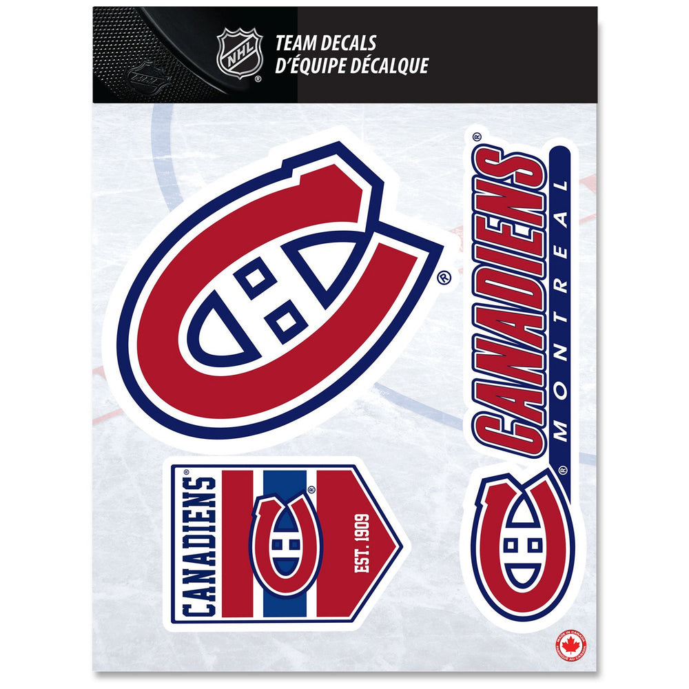 Montreal Canadiens 8x11 Team Fan Decal Set