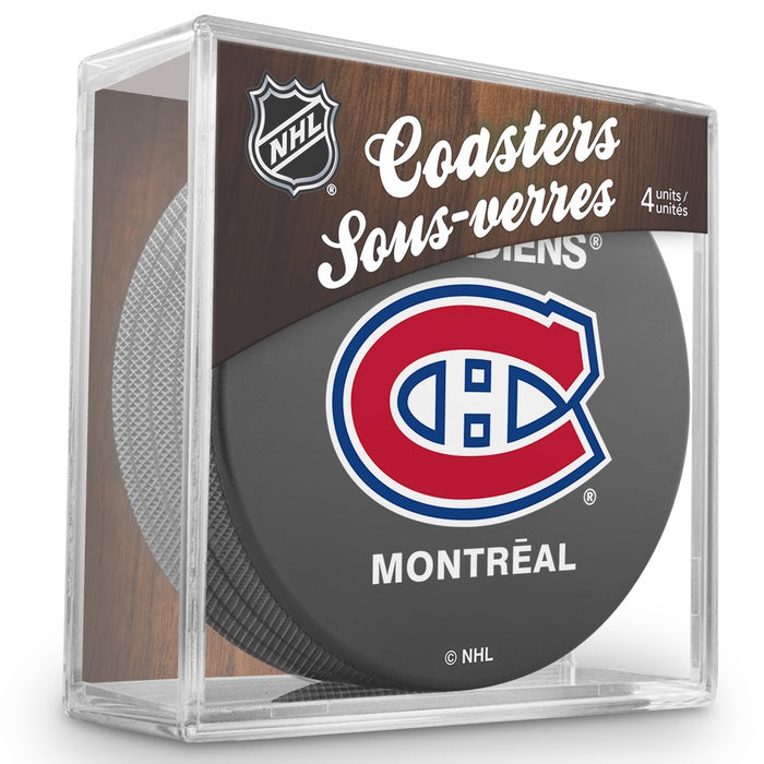 Montreal Canadiens 4-Pack Puck Coaster Set