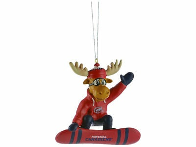 Montreal Canadiens Snowboarding Moose Ornament
