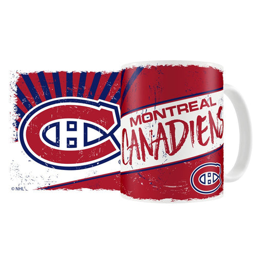 Montreal Canadiens 15oz. Sublimated Classic Design Ceramic Mug