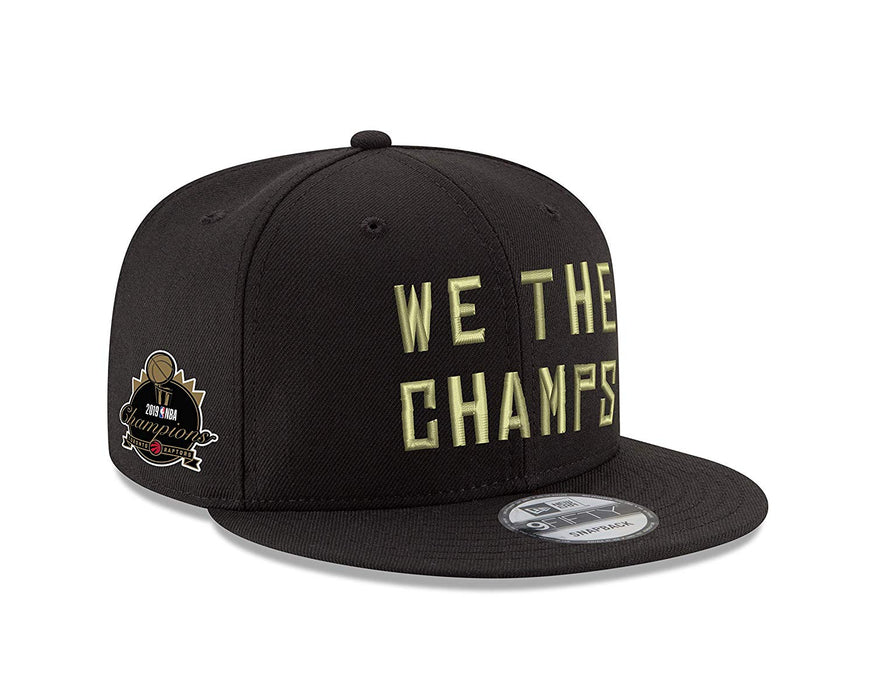 Toronto Raptors New Era 9Fifty Black Gold WTC Champions Hat Side Patch Snapback