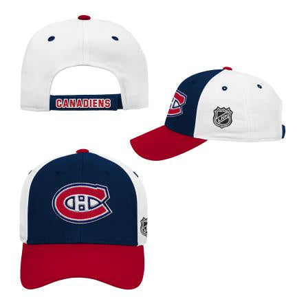 Montreal Canadiens Youth Colorblock Struct Adjustable Hat