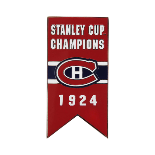 Montreal Canadiens 1924 Stanley Cup Championship Banner Pin
