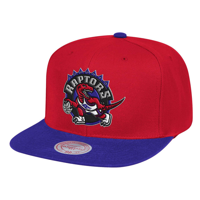 Toronto Raptors Mitchell & Ness Red Wool Two Tone Adjustable Snapback