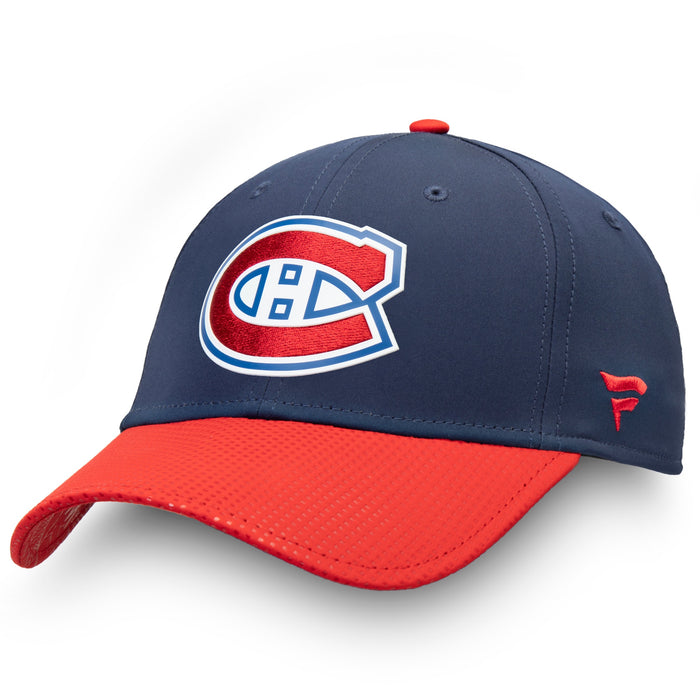 Montreal Canadiens Fanatics Blue Pro Draft Flex Fit Hat