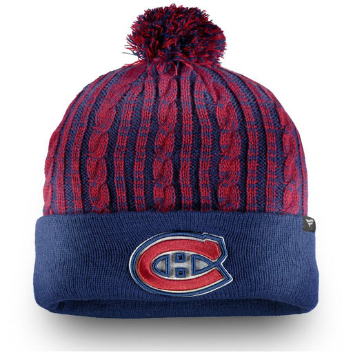 Montreal Canadiens Fanatics Women's Red Blue Ace Knit Pom Hat
