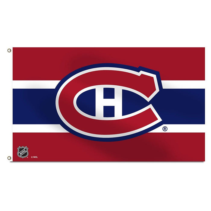 Montreal Canadiens 3' x 5' Single Sided Banner Flag