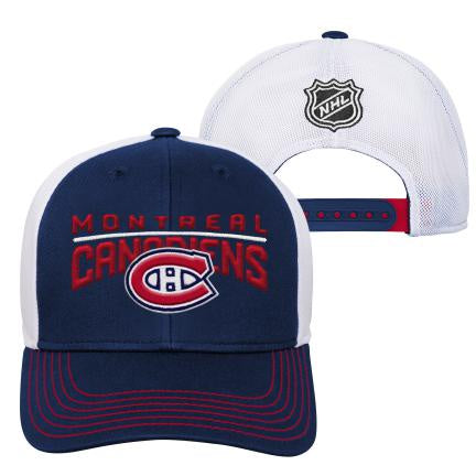 Montreal Canadiens Youth Winger Struct Meshback Adjustable Hat
