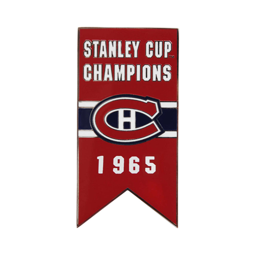 Montreal Canadiens 1965 Stanley Cup Championship Banner Pin
