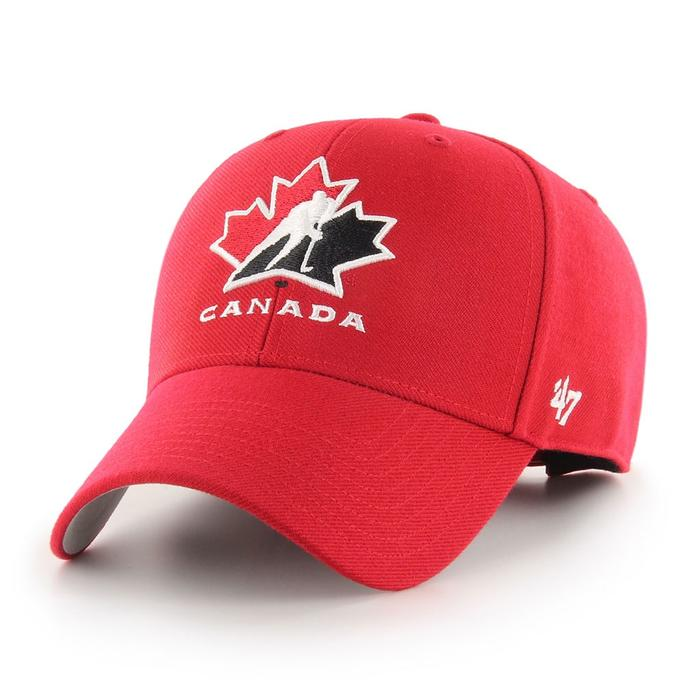 Team Canada 47 Brand Youth Red Basic MVP Adjustable Hat