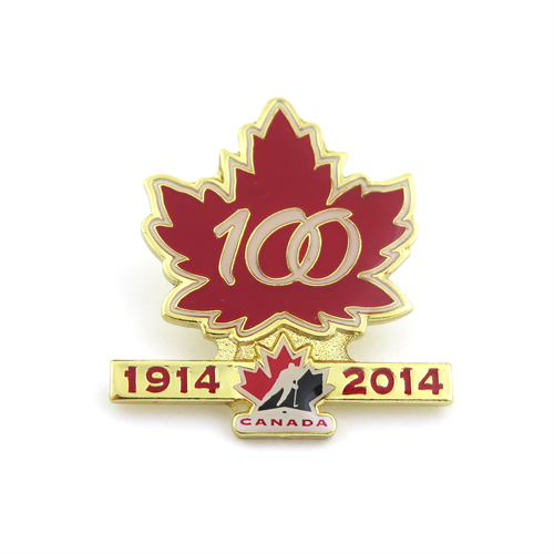 Team Canada 100th Anniversary Label Pin