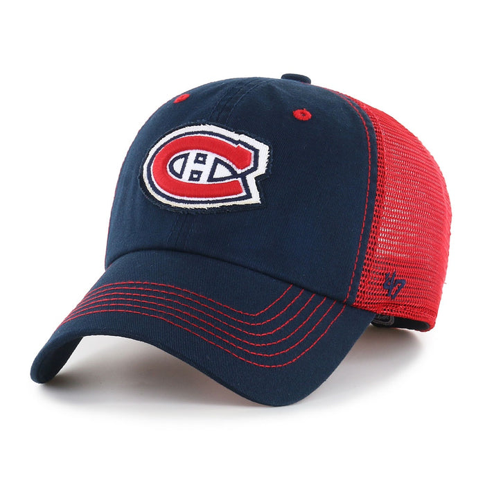 Montreal Canadiens 47 Blue/Red Taylor Closer Stretch Fit Hat