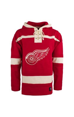 Detroit Redwings 47 Red Heavyweight Lacer Hoodie
