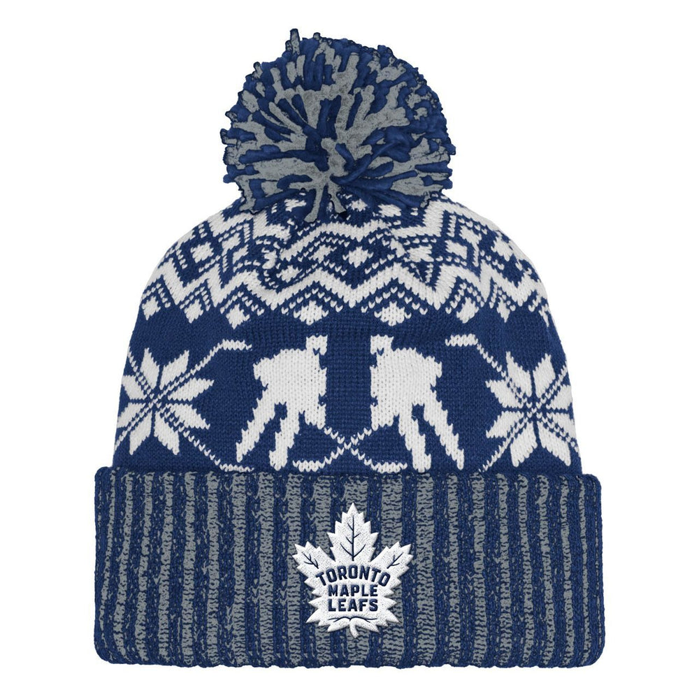 Toronto Maple Leafs Adidas Snowflake Player Cuffed Knit Hat