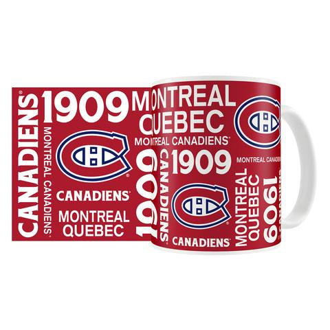 Montreal Canadiens 15oz. Sublimated Knockout Ceramic Mug