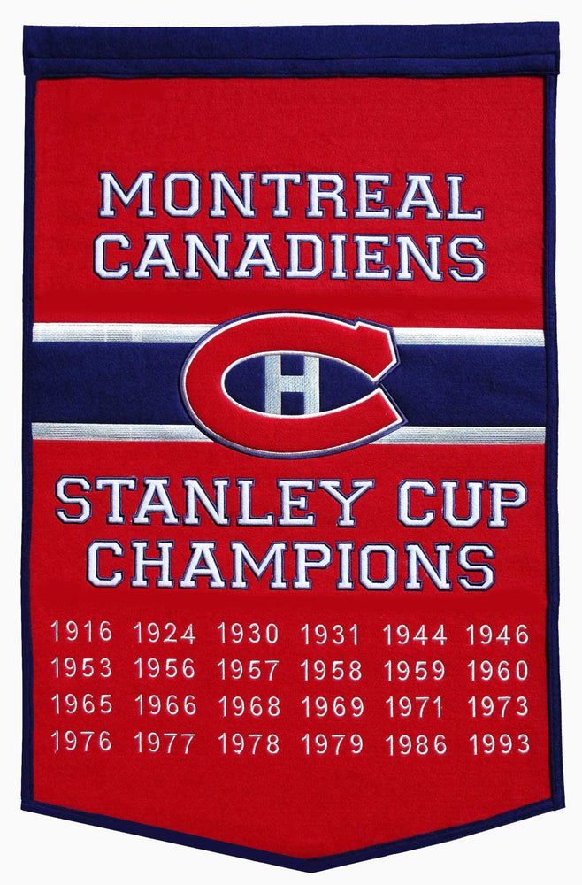 Montreal Canadiens Stanley Cup Dynasty Banner
