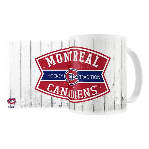 Montreal Canadiens 15oz White Sublimated Barn Board
