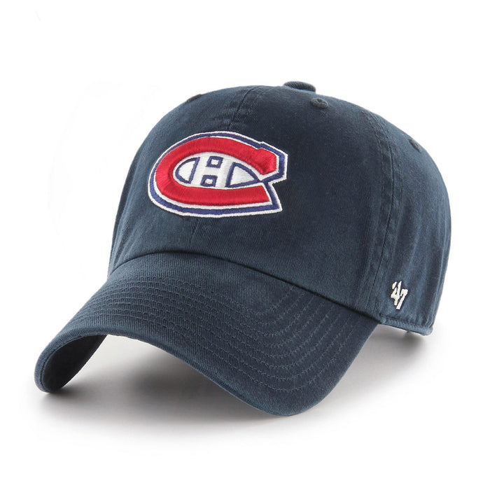 Montreal Canadiens '47 Navy Clean Up Adjustable Hat