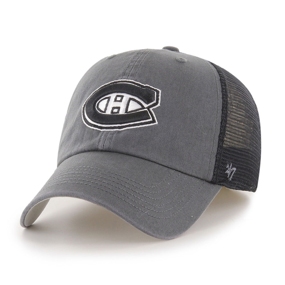 Montreal Canadiens 47 Charcoal Closer Fitted Mesh Hat