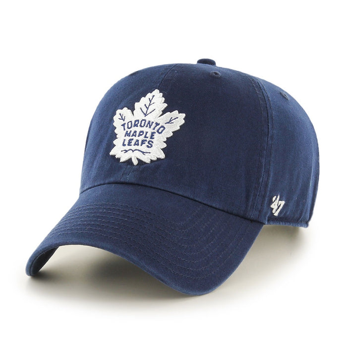 Toronto Maple Leafs 47 Navy Clean Up Adjustable Hat