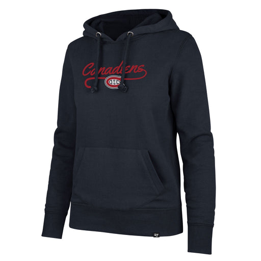 Montreal Canadiens 47 Navy Ladies Clean Sweep Pullover Hoodie