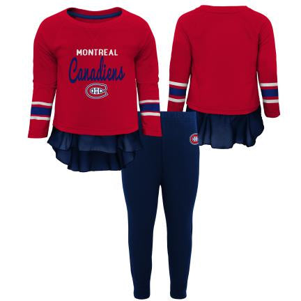 Montreal Canadiens Girls Red Long Sleeve Top & Leggings Set