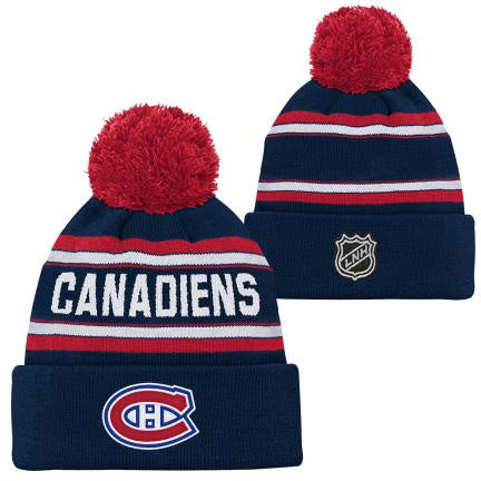 Montreal Canadiens Youth Wordark Cuffed Pom Knit Hat