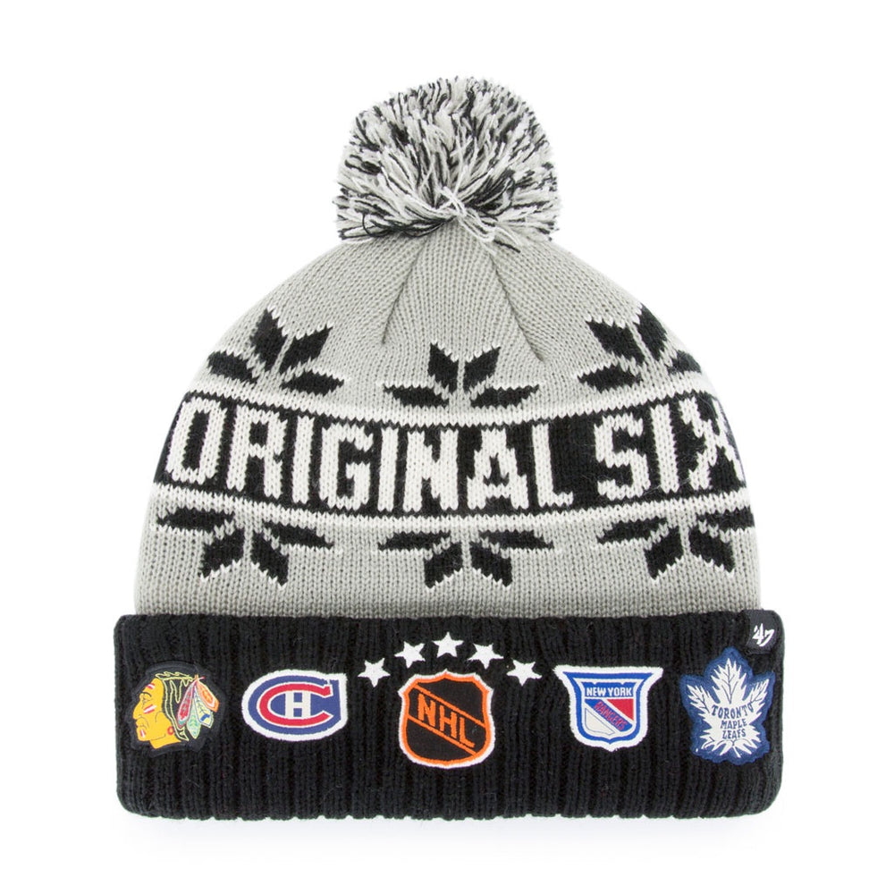 Original Six 47 Rink Cuff Pom Knit Toque