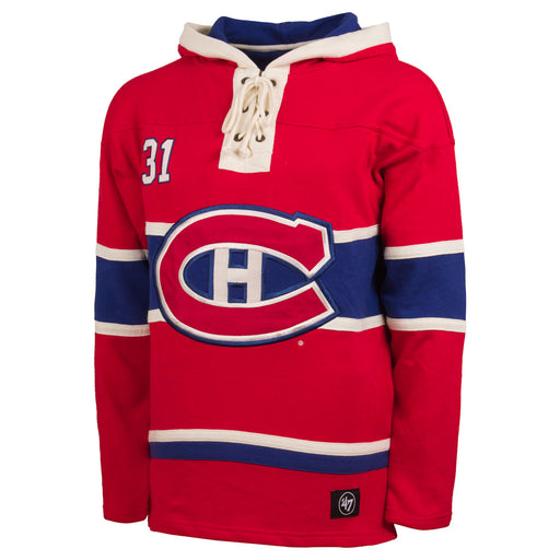 Carey Price Montreal Canadiens 47 Red Heavyweight Lacer Hoodie