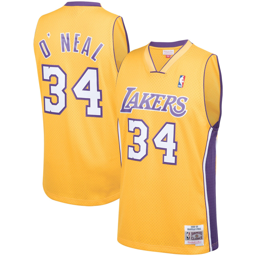 Shaquille O'Neal Los Angeles Lakers Mitchell & Ness Golden 1999-2000 Hardwood Classics Swingman Jersey