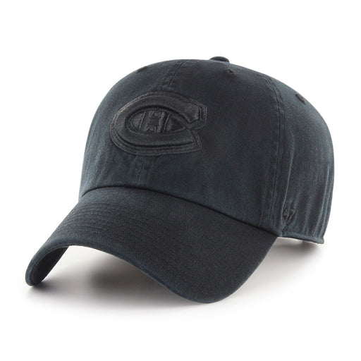 Montreal Canadiens '47 Black on Black Clean Up Adjustable Hat