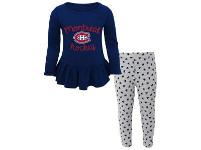 Montreal Canadiens Girls Puck Drop Sweet Heart PJ Set