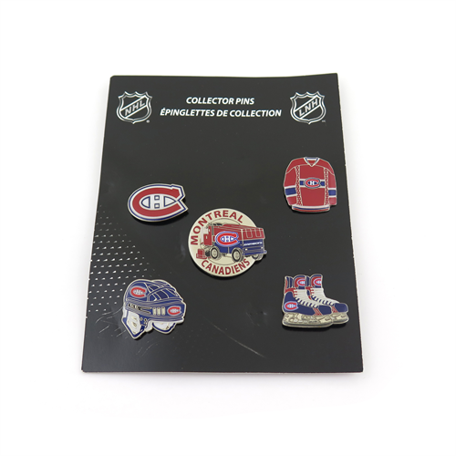 Montreal Canadiens 5 Pins Collector Set