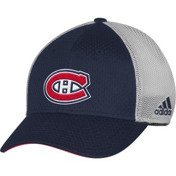 Montreal Canadiens Adidas Structured Flex Meshback Hat