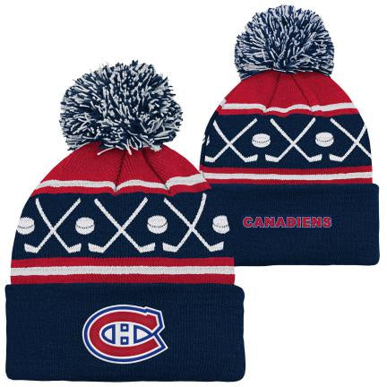Montreal Canadiens Kids Red Face Off Cuff Pom
