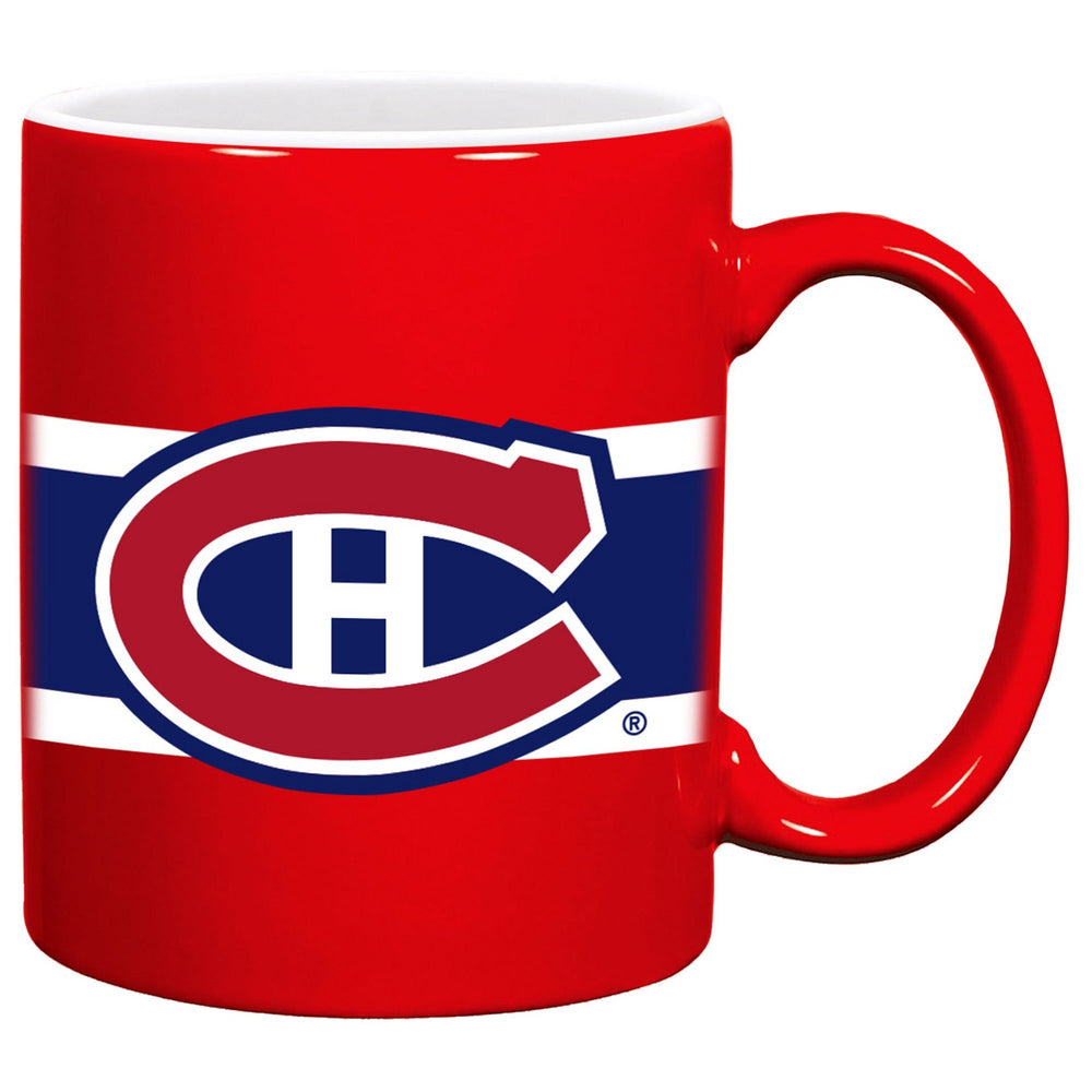 Montreal Canadiens 11oz. Stripe Ceramic Mug