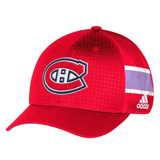 Montreal Canadiens Adidas Hockey Fights Cancer Fitted Hats