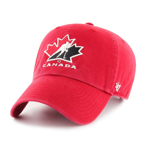 Team Canada 47 Red Clean Up Adjustable Hat