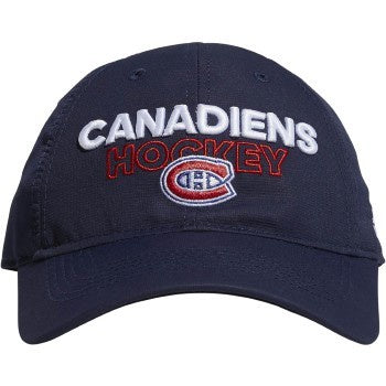 Montreal Canadiens Adidas Navy Slouch Adjustable Hat