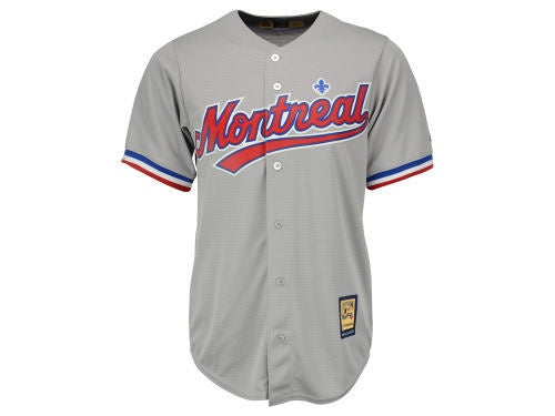 Montreal Expos MLB Men's Cooperstown Replica Grey Jersey Majestic