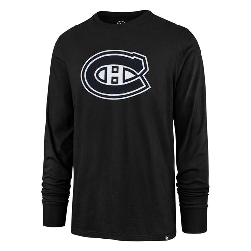 Montreal Canadiens 47 Black Knockout Fieldhouse Long Sleeve Shirt