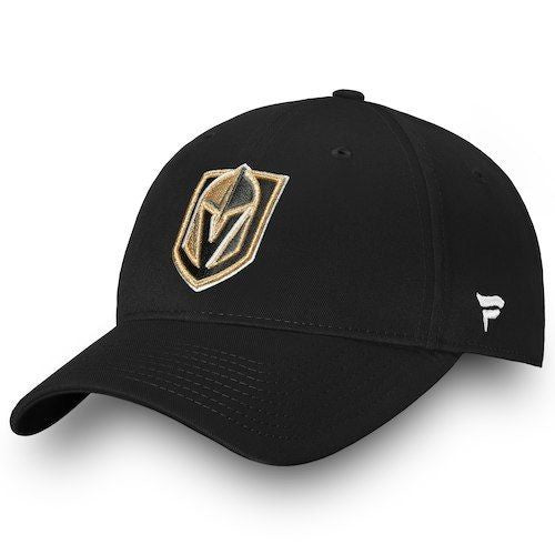 Las Vegas Golden Knights Fanatics Black Elevated Core Adjustable Hat