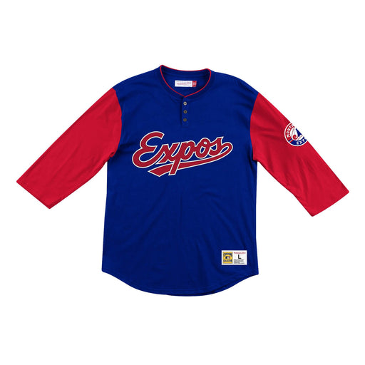 Montreal Expos Mitchell & Ness Raglan Franchise Player Henley