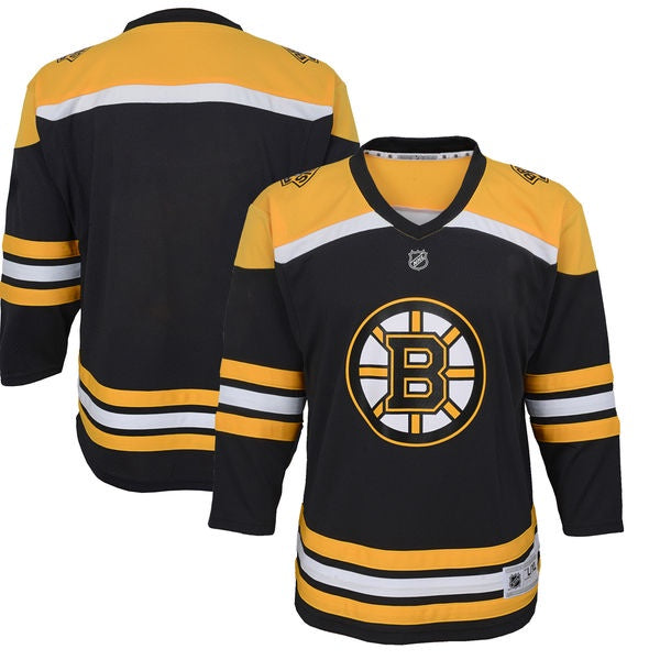 Boston Bruins Youth Black Premier Home Jersey