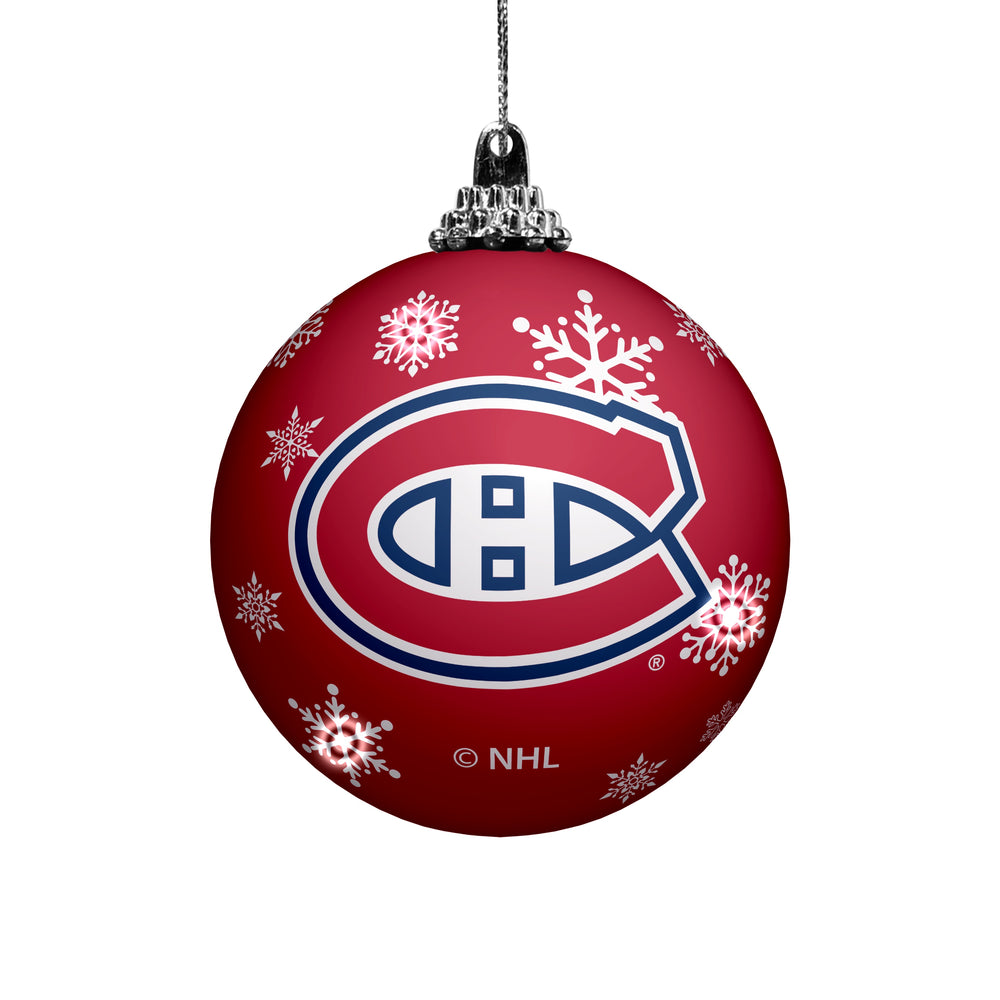 Montreal Canadiens LED Light Up Ball Ornament
