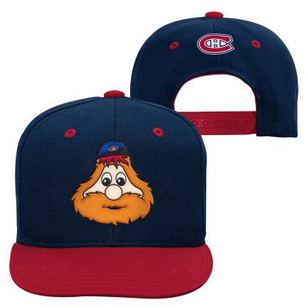 Youppi Montreal Canadiens Youth Navy Flat brim Snapback