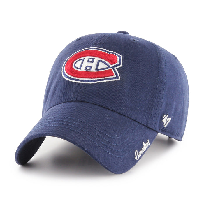 Womens Montreal Canadiens Miata Clean Up Hat 47 Brand