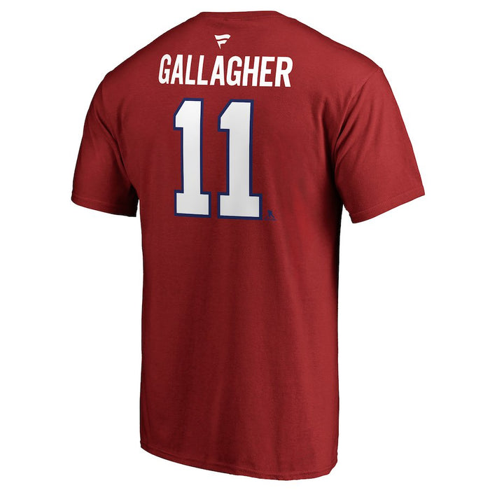 Brendan Gallagher Montreal Canadiens Fanatics Red Authentic T-Shirt