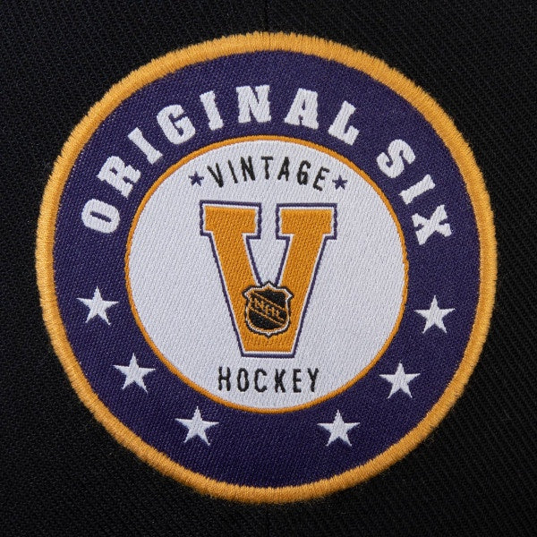 Original Six Fanatics Black Vintage Snapback